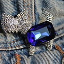 Scotty Dog Diamante Brooch