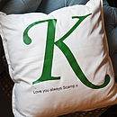 Personalised Letter Cushion