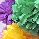 Tissue Paper Pom Pom Ball Decorations