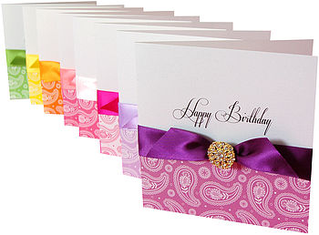 Paisley Print Personalised Birthday Card