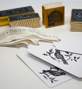 Love Birds Rubber Stamp Set - diy stationery
