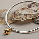 Mousehole Gold Shell Bangle