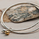 Porth Chapel Silver And Gold Double Bangles