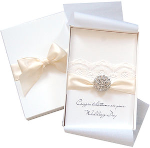 Opulence Large Boxed Wedding Card - wedding stationery