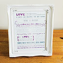 'Love Is' Typographic Print