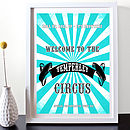 Customer Family Circus Print - Turquoise
