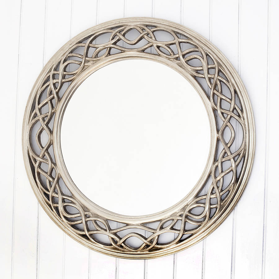 Twisted elaborate round mirror by decorative mirrors for Fancy mirror
