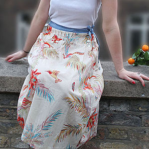 Toucan Party Pintuck Skirt - skirts & shorts