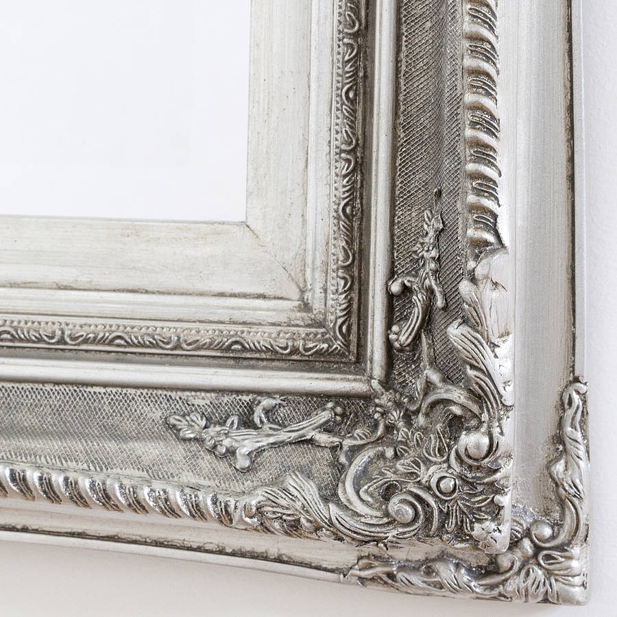 Finely Ornate Silver Mirror By Decorative Mirrors Online