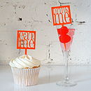 'Eat me' and 'Drink me - Orange