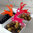 Reindeer Food Pick - Orange, Bright Pink and Red
