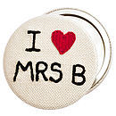 'I Love…' Personalised Compact Mirror