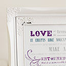 'Love Is' Typographic Poster Print