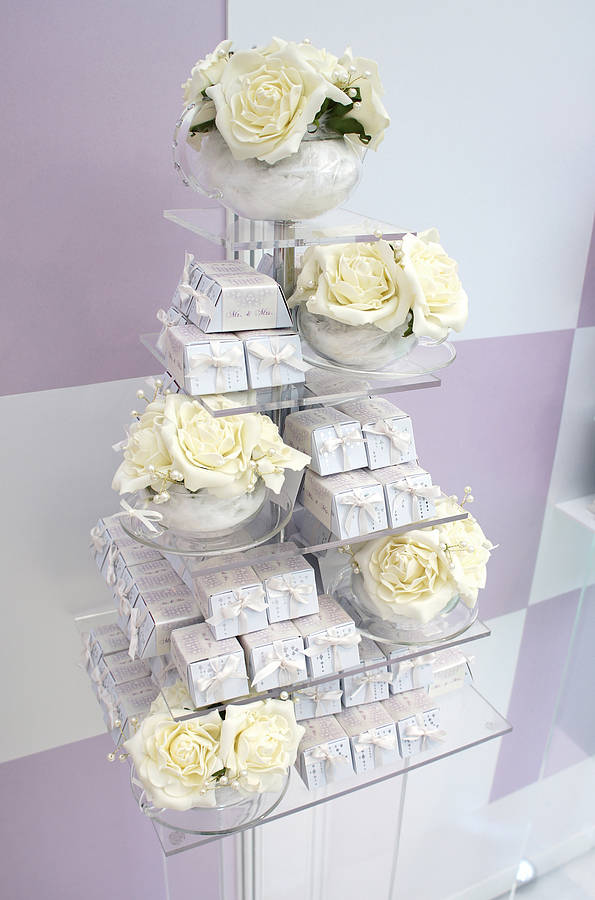 wedding cake not on the high street wedding chocolate favour tower 100 guests by tale 23322