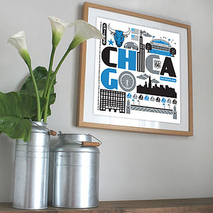 Chicago City Print - posters & prints