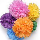 Tissue Paper Pom Pom Decoration
