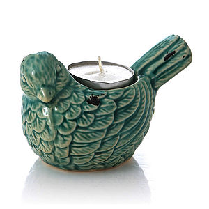 Ceramic Bird Tealight Holder - dining room