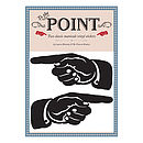 To The Point Wall Stickers - Black