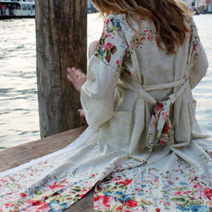 Orchard Blossom Dressing Gown - bath robes