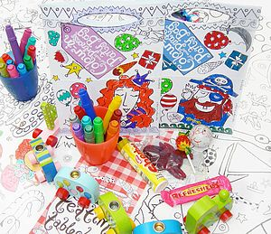 Colour In Party Bag Six Pack X1 P01 - children's parties