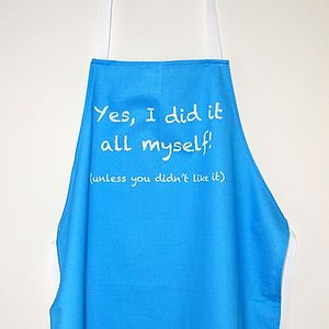'Did It Myself' Apron