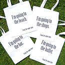 'I May Be Some Time' Holiday Tote Bags