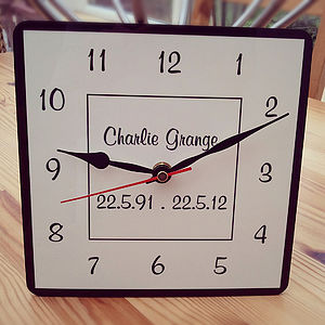 Personalised Clock - clocks