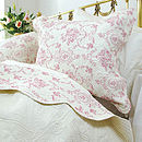 Red Hearts And Roses Bedspread
