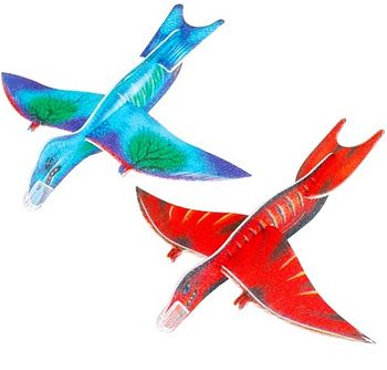 Set Of Three Flying Dinosaur Toy Gliders
