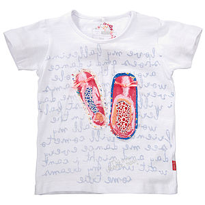 Ballerina Shoes Cotton T Shirt - t-shirts & tops