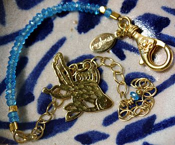 Gold And Apatite Flo Fish Bracelet