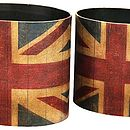 Union Jack Bin And Umbrella Stand Set