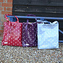 Oily Rag Reversible Spotty Oilcloth Bags