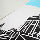 St Pauls linoprint - signed