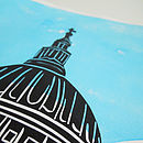 St Pauls linoprint - close-up
