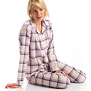 Womens Brushed Cotton Pyjamas