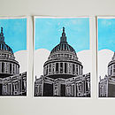 St Pauls linoprint - run of prints