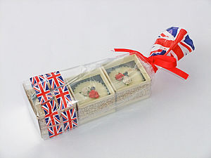 Union Jack Three Boxed Bubble Bath Melts