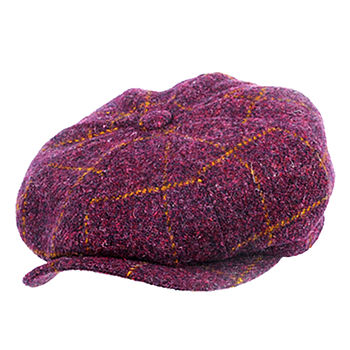 Glasgow Harris Tweed Newsboy Cap