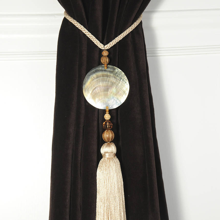 Pair Of Round Shell Curtain Tie Backs By Victoria Jill