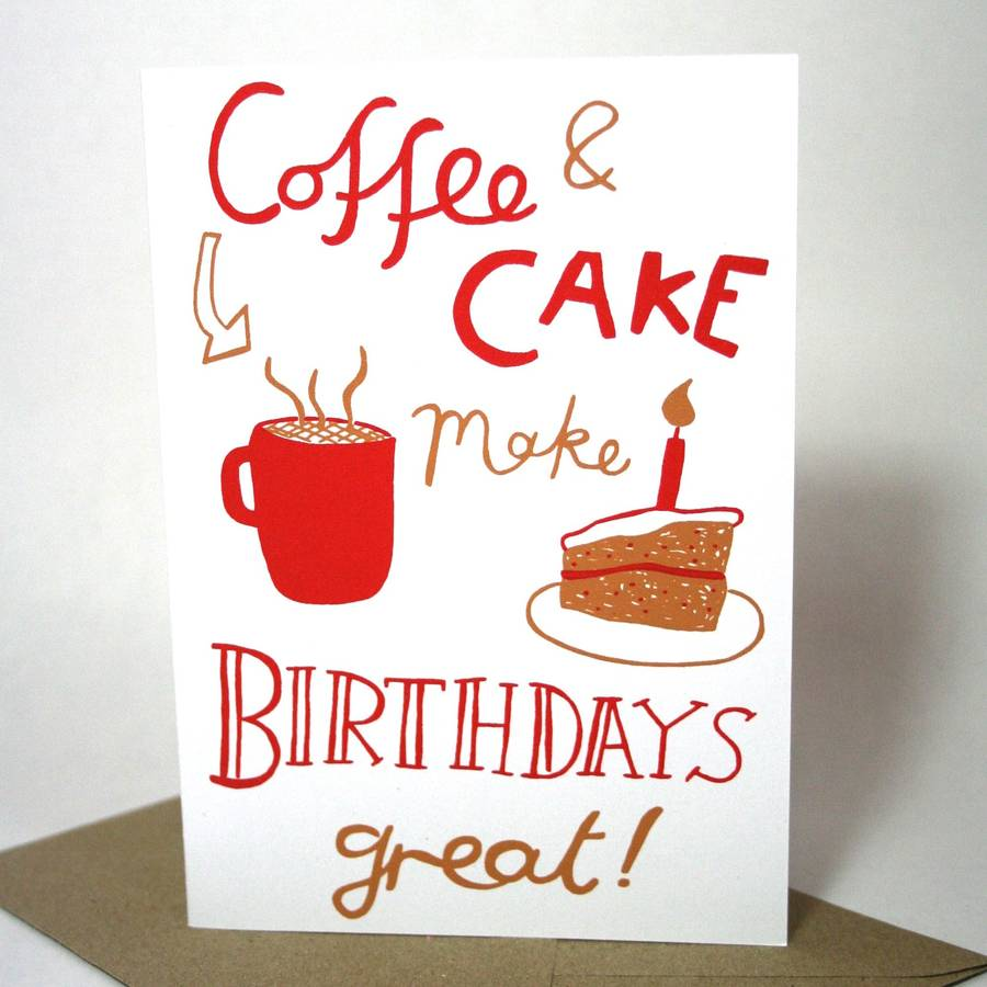 Coffee And Cake Birthday Card By Memo Illustration
