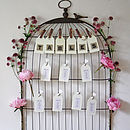 Birdcage Noticeboard Table Plan