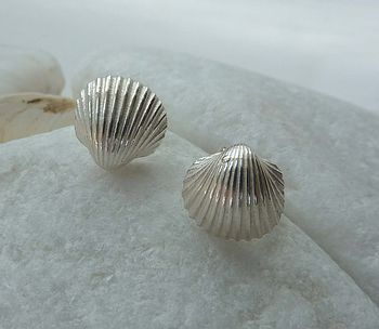 Silver Tiny Shell Stud Earring