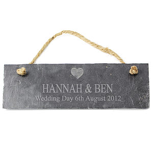 Personalised Slate Sign - room decorations