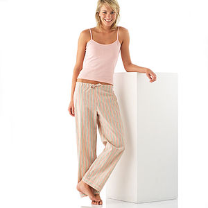 Striped Pyjama Trousers In Reg & Long Leg