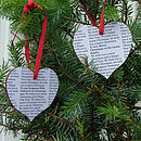 Secret Message Christmas Hearts