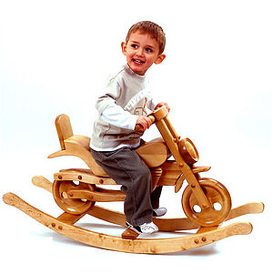Chopper Wooden Rocking Bike - traditional toys & games