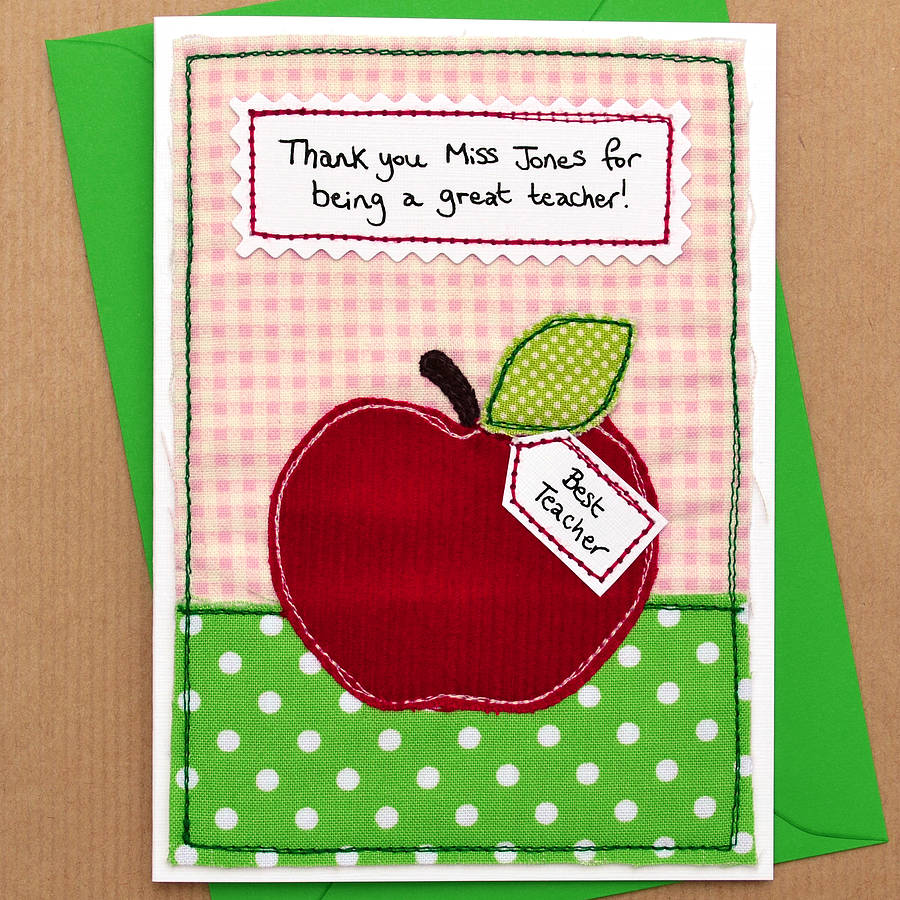 how to make a thank you card for your teacher