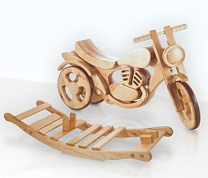 All Terrain Wooden Rocking And Ride On Bike