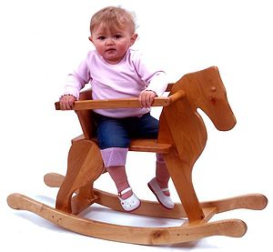 Junior Wooden Rocking Horse - children's furniture